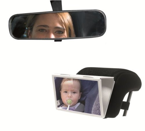 Baby on Board Rear View Mirror (Black)