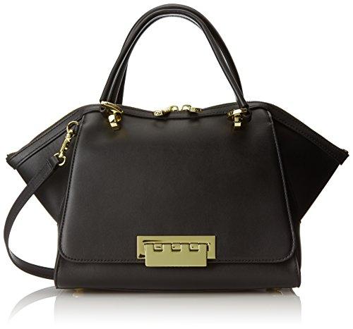ZAC Zac Posen Eartha Soft Double Mini Top Handle Bag, Black, One Size