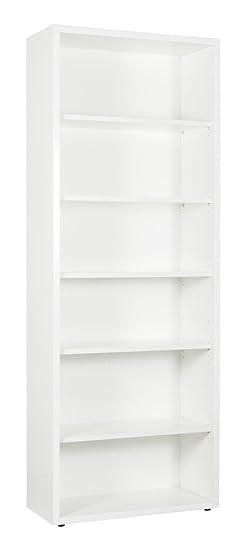 Libreria Disegno alta laccata bianca LB4801 L82h217p36