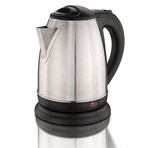 1.8-Liter Stainless Steel Electric Tea Kettle 1500-Watt Cordless Teapot