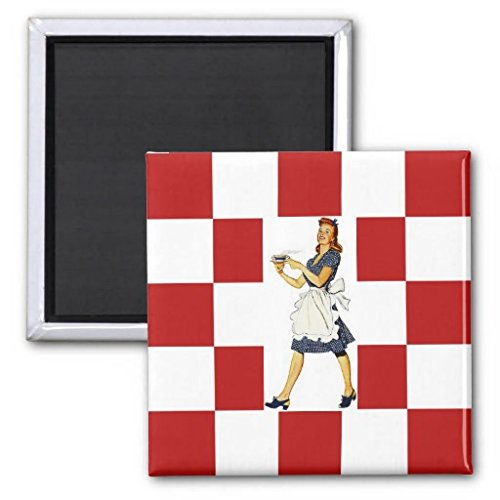 Magnet ~ Retro Kitchen Mid-Century Floor & Lady