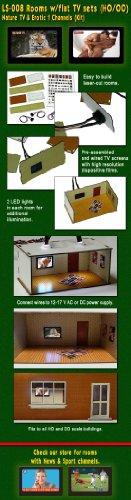 2 pcs Illuminated Rooms w/flat TVs Nature & Erotic HO/OO kit