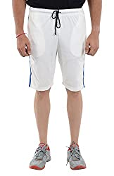 LLUMINATI Men's Cotton Shorts (Bermuda White, white, XL)