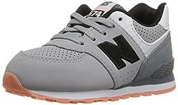 New Balance KL574 State Fair Running Shoe (Infant/Toddler), Grey/Black, 3 M US Infant