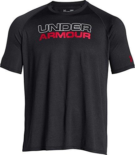 Under Armour, Maglia a maniche corte Uomo, Nero (Blk/Wht/Red), XL