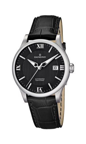 Candino C4494/4 - Reloj para caballero de cuero Resistente al agua negro