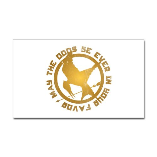 The Hunger Games Sticker Rectangle by CafePress - White
