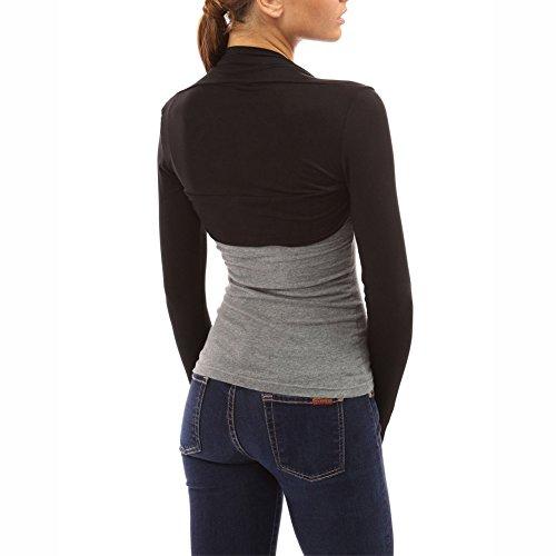 Fashion Secrets Women`s Long Sleeve Rayon Cotton Bolero Shrug Cropped Cardigan Small Jacket (Medium,..