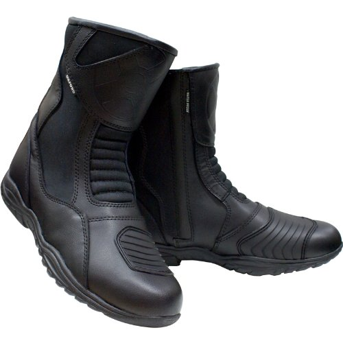 BD13S43 - Oxford Cheyenne Short Waterproof Motorcycle Boots Black 43 (UK 9)