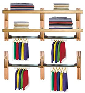 solid wood adjustable wall mounting closet. Black Bedroom Furniture Sets. Home Design Ideas