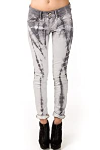 Straight Cut Jeans in Grey Tie Dye