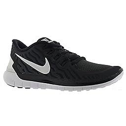 Nike Women\'s Free 5.0 Black/White/Dark Grey/Dv Grey Running Shoe 7 Women US