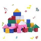 Happytime 42pcs 音いっぱいつみき ミュージカルブロック 幼児 赤ちゃん 子ども 知育 おもちゃ 音の鳴る積み木