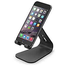 elago® M2 Stand [Black] - [Premium Aluminum][Angled for Video Calls][Cable Management] - for all iPhones, Galaxy, and other Smartphones