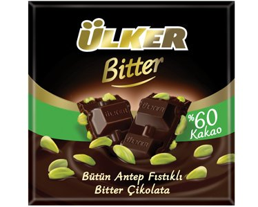 Ulker Butun Antep Fistikli Bitter Cikolata Dark Chocolate with Whole Pistachios Turkish Chocolate (Pistachio Chocolate compare prices)