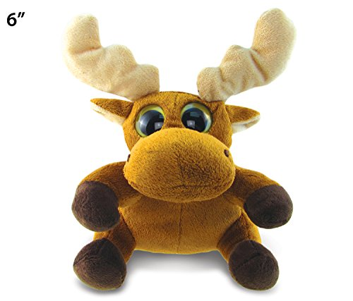 Big Eye Moose Plush, 6""
