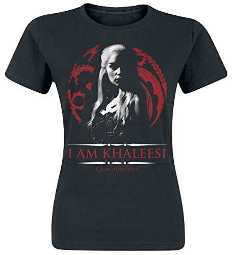 Game Of Thrones Daenerys Targaryen - I Am Khaleesi Maglia donna nero M