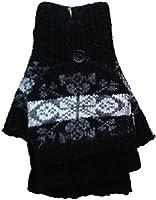 Ladies/Girls Assorted Luxury Wool Mitten Cap Gloves (GT-Mit-003)