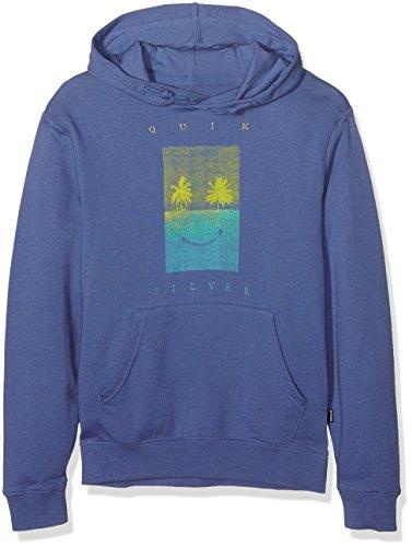 Quiksilver Sadisbetterhody B OTLR-Felpa da ragazzo, Bambino, blu (Federal blue), XS/8