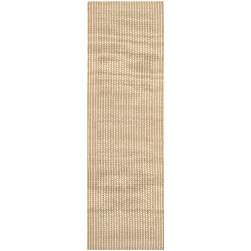 Safavieh Natural Fiber Collection NF449A Hand Woven Ivory and Beige Jute Runner, 2 feet 6 inches by 12 feet (2'6