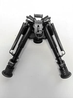 "5 Levels 6-9"" Swivel Rotate Tactical Pivot Rifle Bipod + Rail Adapter"