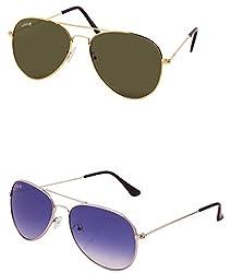Benour BENCOM014 Combo Unisex Sunglasses