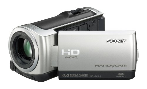 Sony HDRCX105ES High Definition Handycam Camcorder With 8GB Internal Memory - Silver (3hrs)