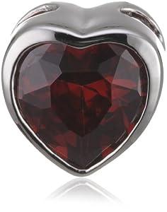 Rafaela Donata Pendentif argent oxyde de zirconium rouge (sans chaîne) 60400055