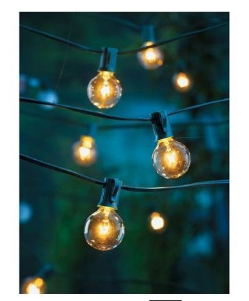 High Quality Clear Globe String Lights Set Of 25 G40 Bulbs Indoor / Outdoor