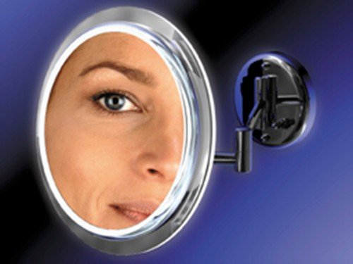 Single Sided Surround Light Wall Mount Mirror 7X Magnification - Sw37 front-949957