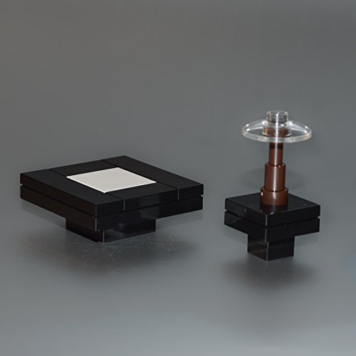 LEGO Furniture: Black Seating Tables with Lamp Coffee Table, Side Table & Lamp