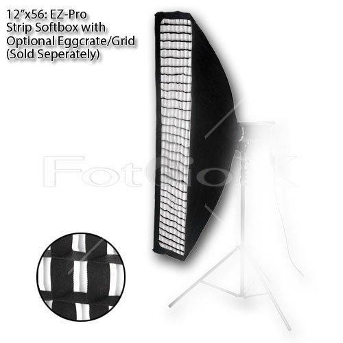 "Fotodiox Pro Studio Solutions EZ-Pro 12""x56"" Strip Box with Speedring Insert for Alien Bees Strobe Flash Light B400, B800, B1600"