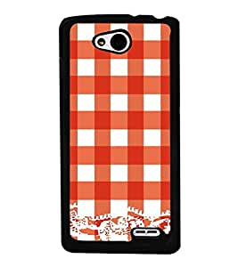 Vizagbeats Red Checks Pattern Back Case Cover for LGL90