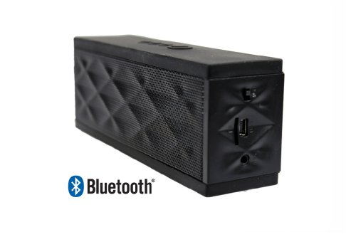 Gsagear High-Powered, Ultra-Portable Wireless Bluetooth Speaker & Speaker-Phone For Hands-Free Calling. Compare To Jawbone Jambox - Black - Retail Packaging