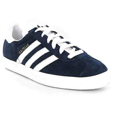Adidas Gazelle 2 White Blue Suede Mens Trainers Size 9.5 UK