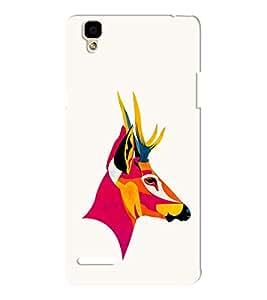 EPICCASE Artistic deer Mobile Back Case Cover For Oppo F1 (Designer Case)