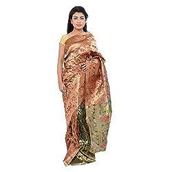 Monash Creations Women's Resham Saree (Mc1 _Multi-Coloured)