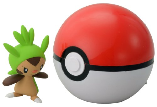 Takaratomy pokemon Monster Collection Figure B-01 Mon-Colle Monster Ball &Chespin - 1