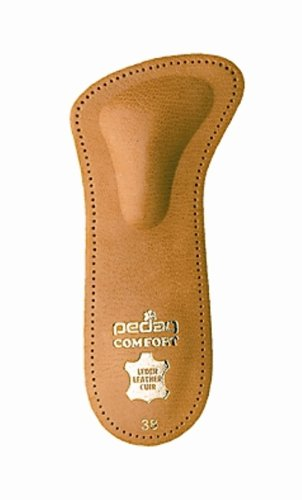 Pedag 142 Comfort 3/4 Leather Orthotic with Supportive Metatarsal Pad and Heel Cushion, Tan, Women's 11/Men's 8