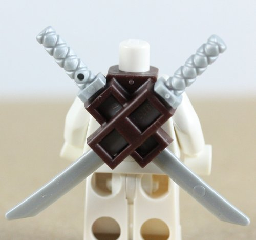 LEGO Dual Scabbard with 2 Silver Katana Swords