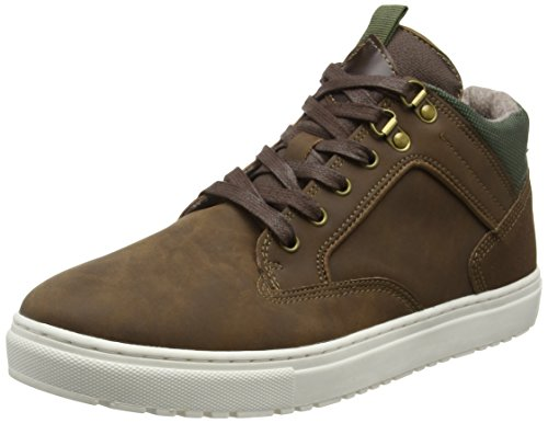 New LookCleated Casual - Stivaletti uomo , Marrone (Brown (24/Mid Brown)), 43