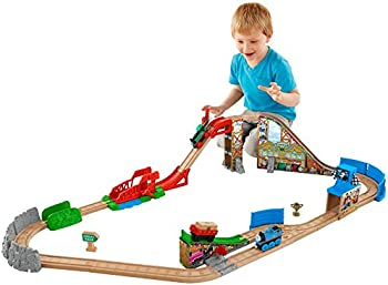 Fisher-Price Thomas the Train Wooden Railway Race Day Relay Set