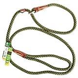 Remington R0216 Braided Rope Slip Dog Leash, 6-Feet, Green