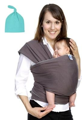 Moby Wrap Baby Carrier With Matching Knot Hat front-721750