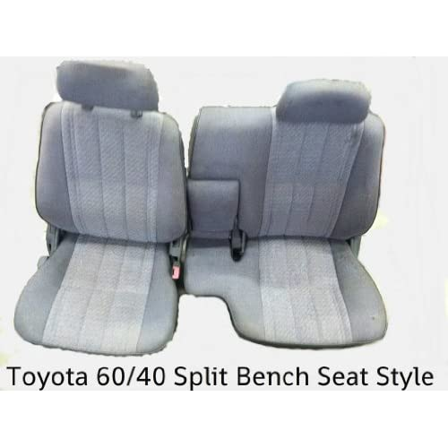 1990 1991 1992 1993 1994 1995 Toyota Pickup Front 60/40 Split Bench Custom  Made Seat Covers GRAY