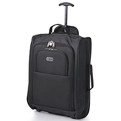 "Business Cabin Approved Executive Luggage, 50cm/55cm Suitcase Baggage, Perfect for Professional Work Trips and as Lightweight Hand Luggage Flight Bags, Rolling trolley/Wheeled Laptop Carry On Case Suitable for Ryanair, Easyjet & More! (50cm (18"") Suitcase"