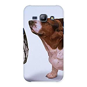 Funny Cute Dog Back Case Cover for Galaxy J1