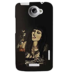 printtech Modern Girl Back Case Cover for HTC One X::HTC One XT::HTC 1X