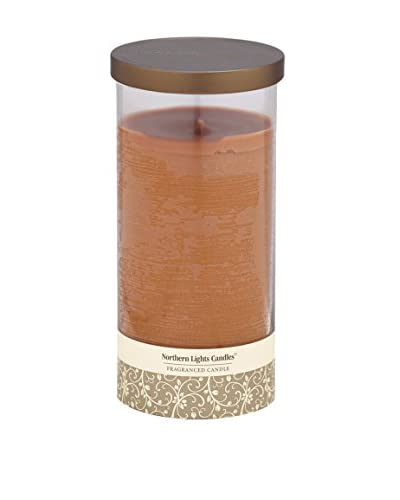 Northern Lights 24-Oz. Glass Pillar Candle, Warm Cinnamon Buns