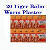 Big Size Tiger Balm Plaster Warm Patch Medicated Pain Relief 20pcs 10pkx2pc